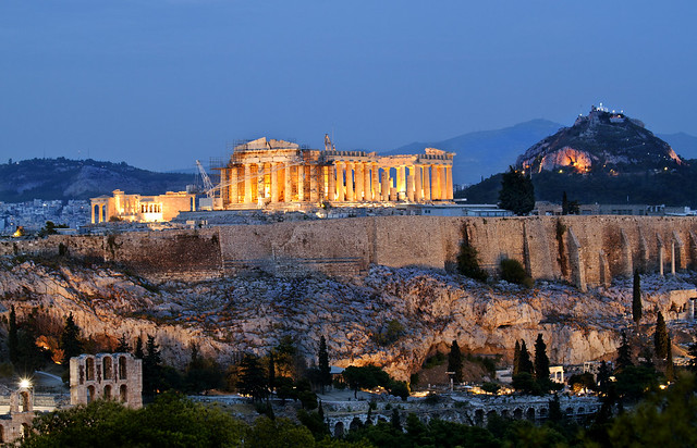 The Acropolis in Her Blue Gown