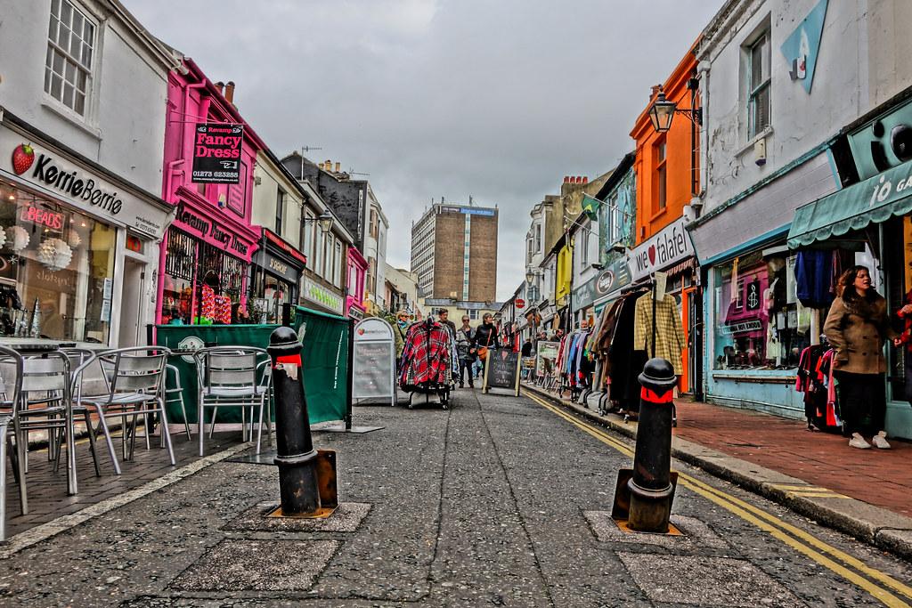 Sydney Street, North Laines, Brighton in HDR