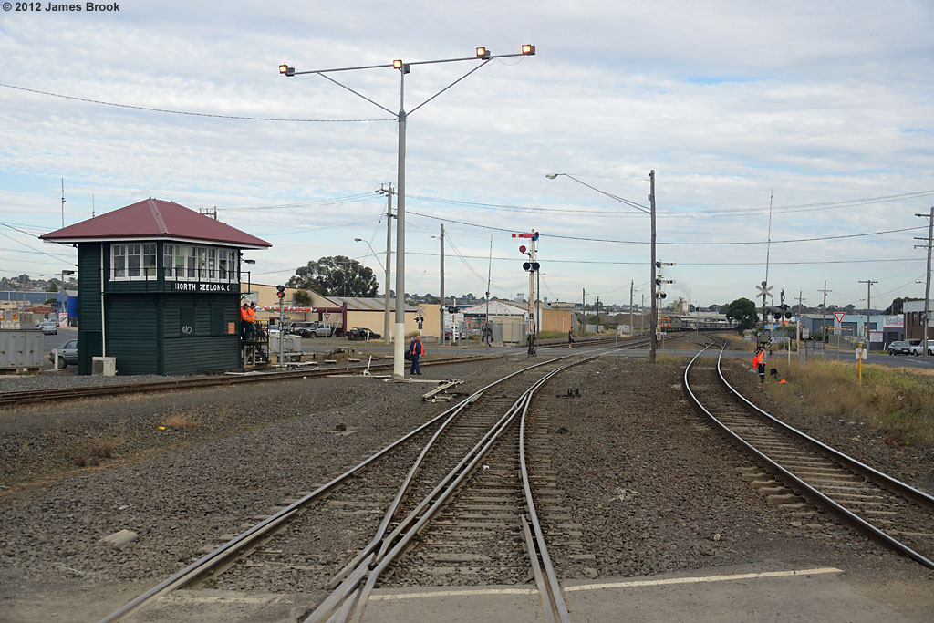 Approaching North Geelong C by James Brook