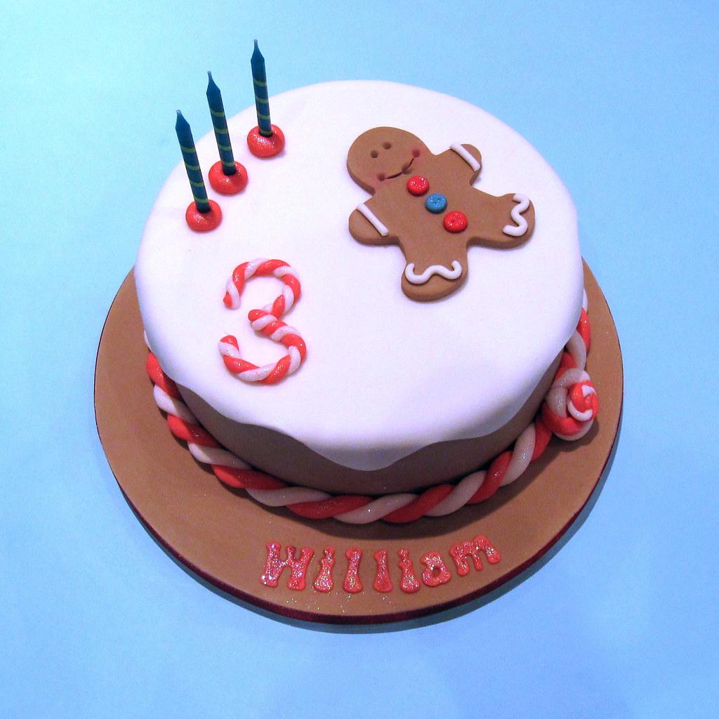 Surprising Gingerbread Man Cake A 3Rd Birthday Cake For My Little Boy Flickr Funny Birthday Cards Online Hetedamsfinfo