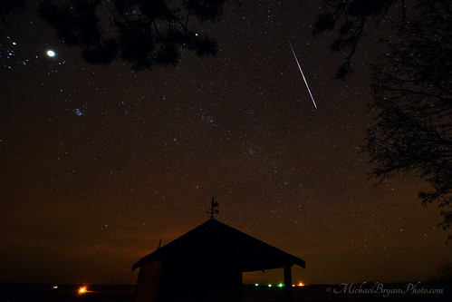 Geminid Meteor and Jupiter | by mbryan777