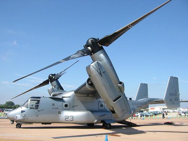 MV-22B Osprey 166480/MV-23 VMX-22 U.S.Marines/ USMC. RAF Fairford, Royal-International-Air-Tattoo/ RIAT, 15-07-2006.