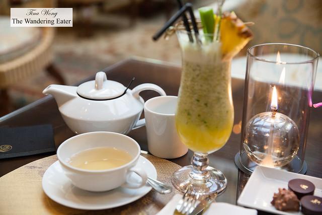 "Frosty Lme and ""Springtime"" darjeeling tea"