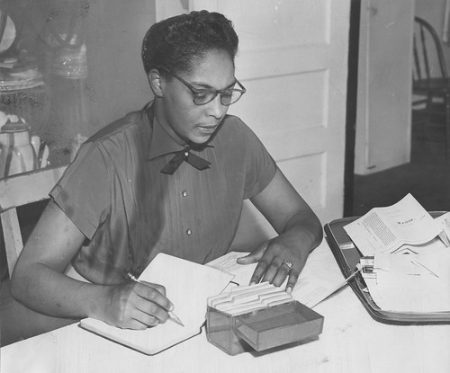 Marie Richardson at Home at Her Desk | by Washington Area Spark