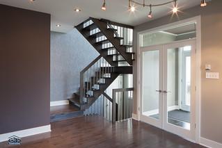 Intérieur du modèle l\'Habitat - Maison neuve à étages (cot ...