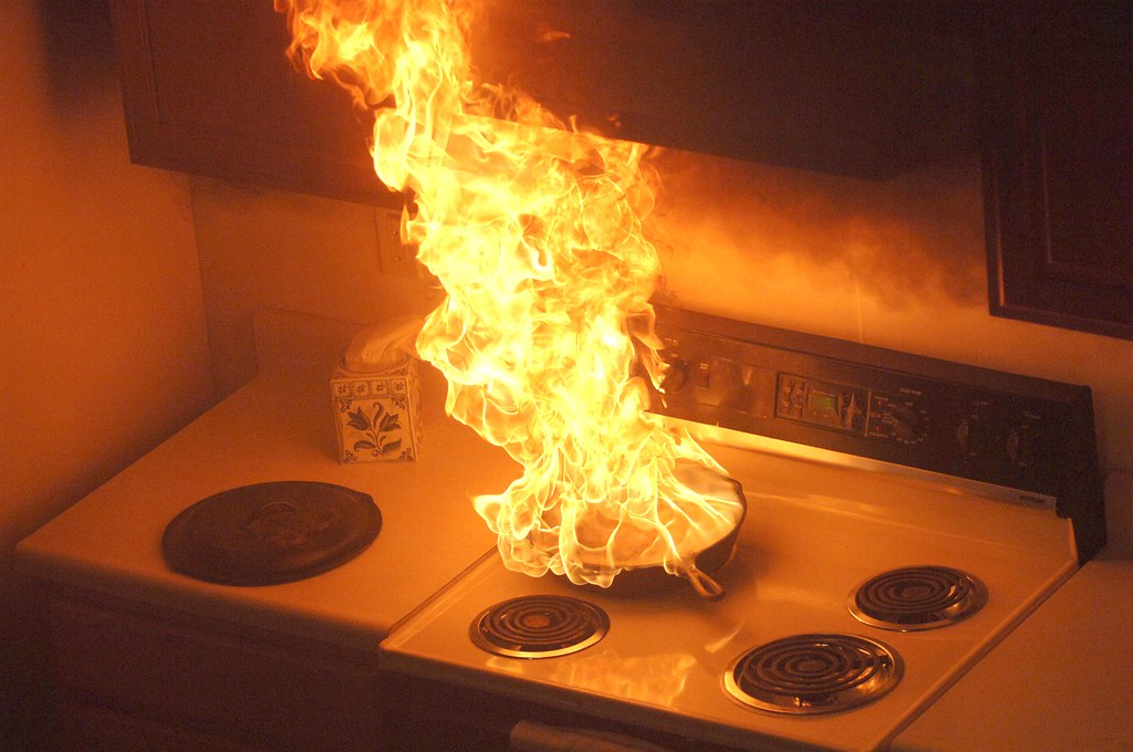 Holiday fire safety - Unattended cooking on stove leads to… | Flickr