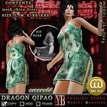 *YB* DRAGON QIPAO emerald