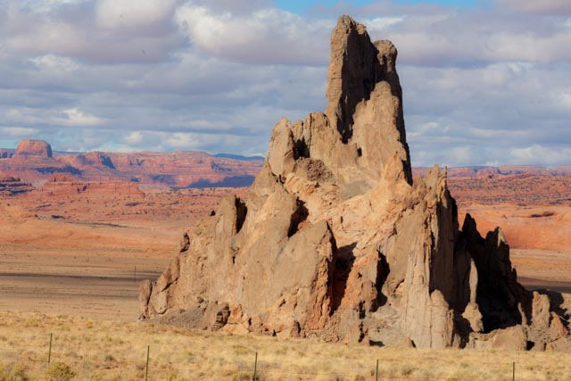 Church Rock, looking north toward Monument Valley