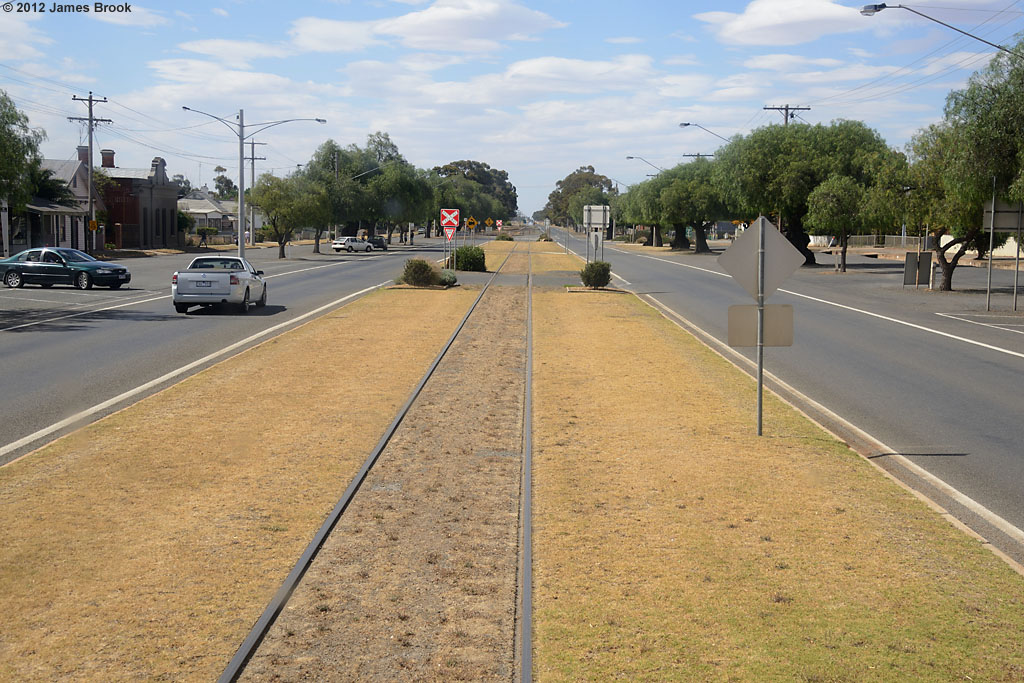 Running down the Main St at Wycheproof by James Brook