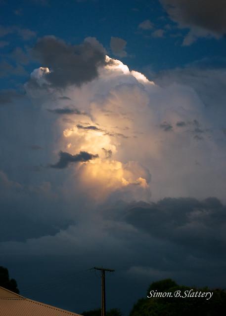 Little bit of cloud from last weeks storm