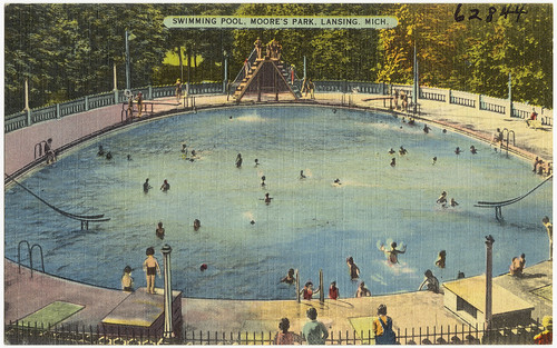 Swimming pool, Moore's Park, Lansing, Mich.