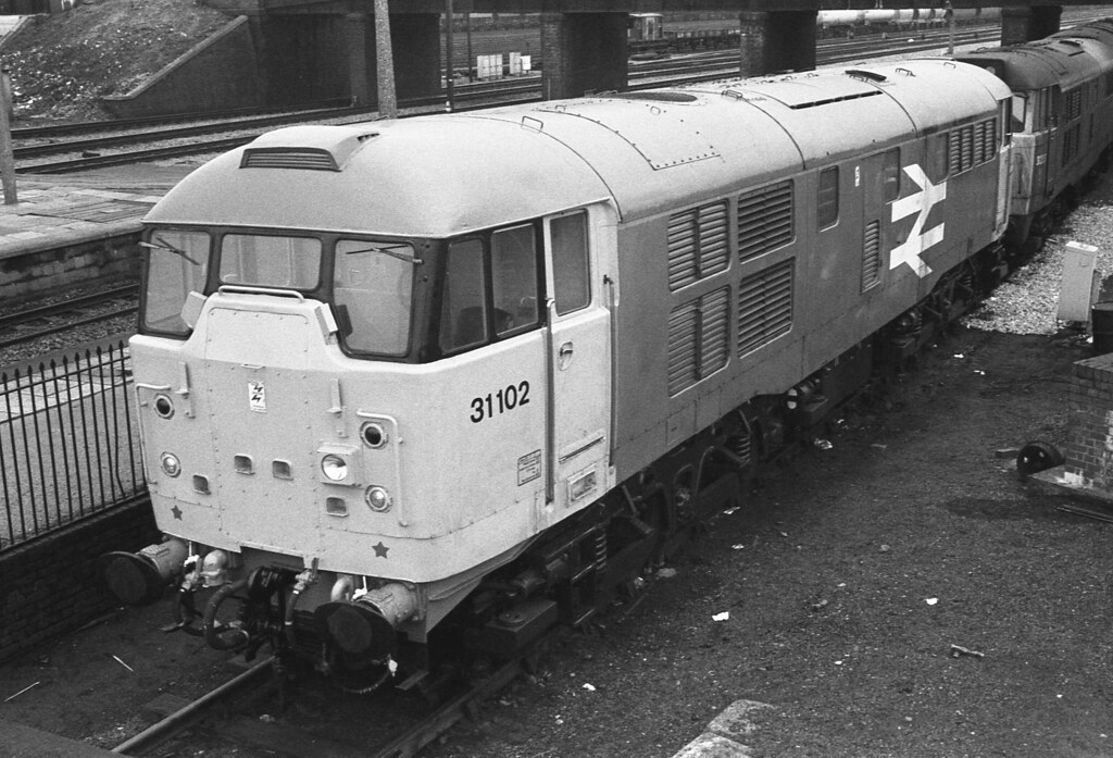 31102 31283 at Severn Tunnel Junction 15.03.1986 (1)