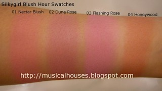 silkygirl blush hour swatches | by musicalhouses