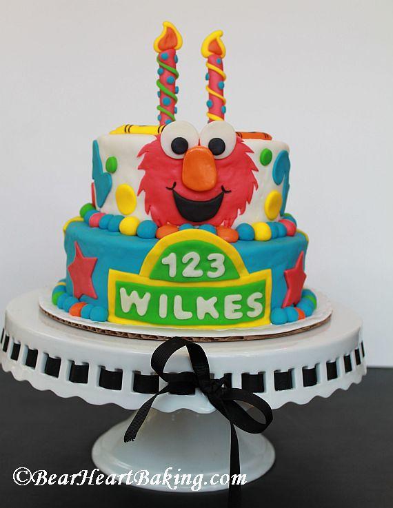 Magnificent Elmo Sesame Street Birthday Cake Sesame Street Birthday Ca Flickr Funny Birthday Cards Online Necthendildamsfinfo