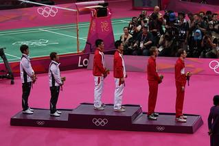 Medal Ceremony, Men's Doubles Badminton Final