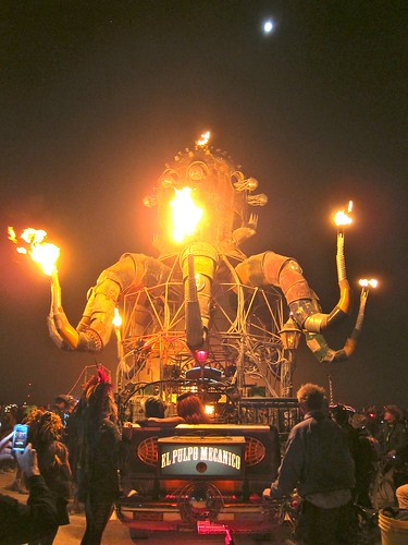 Just a giant mechanical fire breathing octopus. | by jetsetwhitetrash