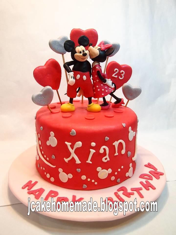 Cool Mickey And Minnie Mouse Birthday Cake Happy Birthday Xian Flickr Funny Birthday Cards Online Alyptdamsfinfo