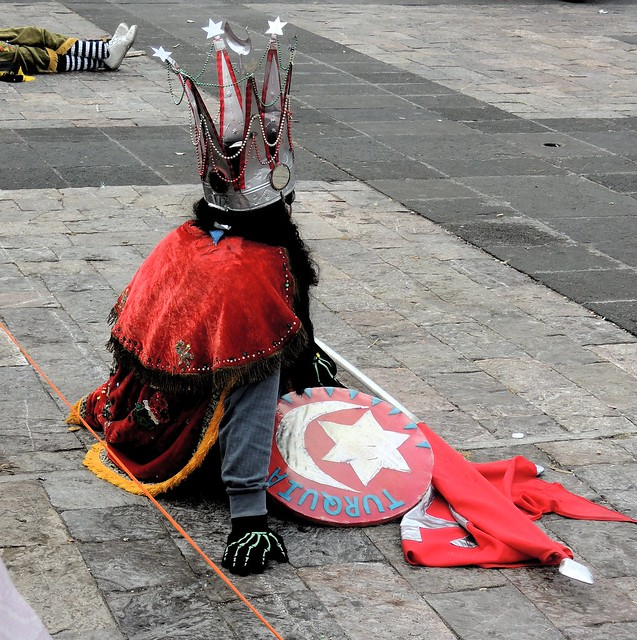 Turkey represents evil in this reenactment of the Crusades by bryandkeith on flickr