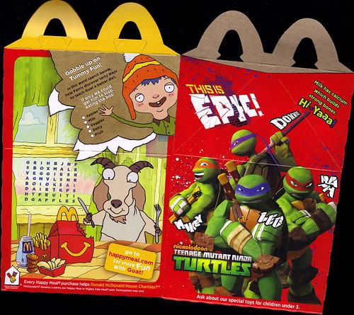 "McDonald's Happy Meal :: ""TEENAGE MUTANT NINJA TURTLES & MOSHI MONSTERS""  box ii (( 2012 )) by tOkKa"