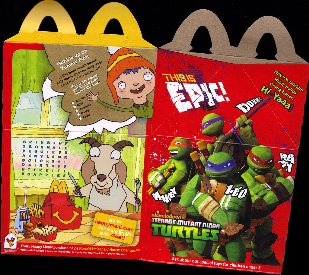 "McDonald's Happy Meal :: ""TEENAGE MUTANT NINJA TURTLES & MOSHI MONSTERS""  box ii (( 2012 )) by tOkKa"