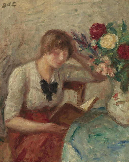 d'Espagnat,  Georges (French,  1870-1950)  - Young Woman reading  - s.d.