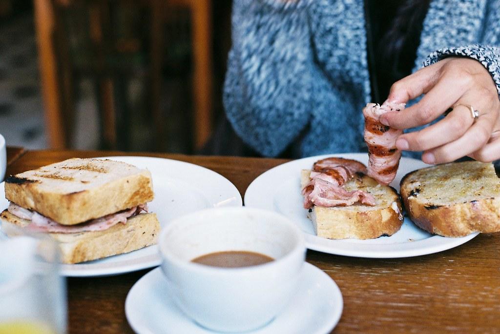 Bacon Sarnie, Spitalfields market food