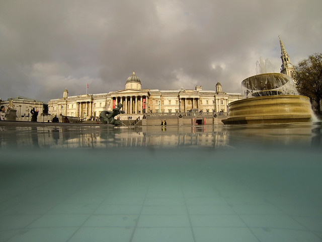 GoPro Hero 3 Still - Trafalgar Square under Water