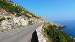 Дорога от Бастии на север острова