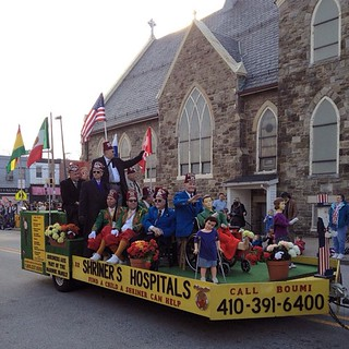 Shriner Crippled Children Float, Mayor's Christmas Parade, Hampden, Maryland. #baltimore #hampden