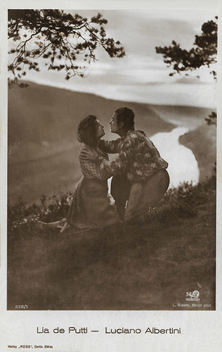 Luciano Albertini and Lya de Putti in Die Schlucht des Todes (1923)