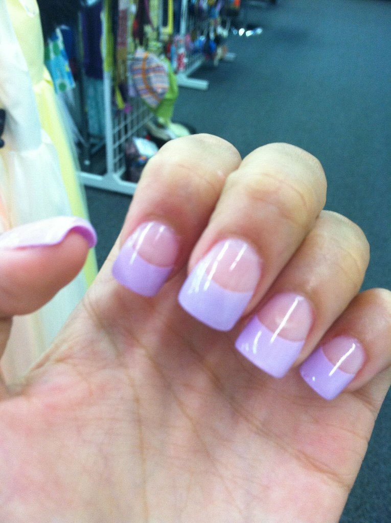 Lavender French Tips Done At Romantic Nails In Tulsa