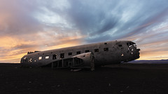 DC3 Wreckage at sunset