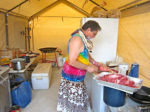 Aside from a few moments off, twice a day for the entire week brett cooked meals for our entire camp.  He'd brought tons of amazing fresh produce from local gardens (omfg those tomatos) and even in the face of faulty equipment and dusty adversity, fed us | by jetsetwhitetrash