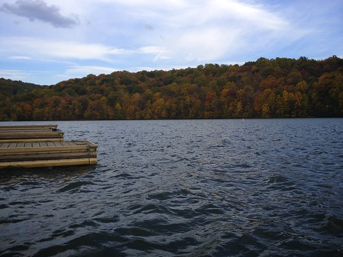 trees lake fall nature water docks landscape day waves cloudy indiana pa twolick