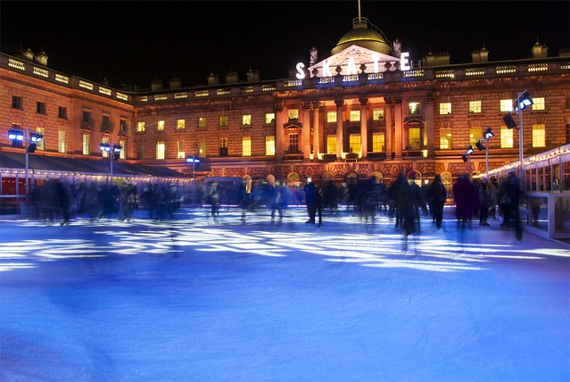 Xmas Ice Rink, Somerset House, London