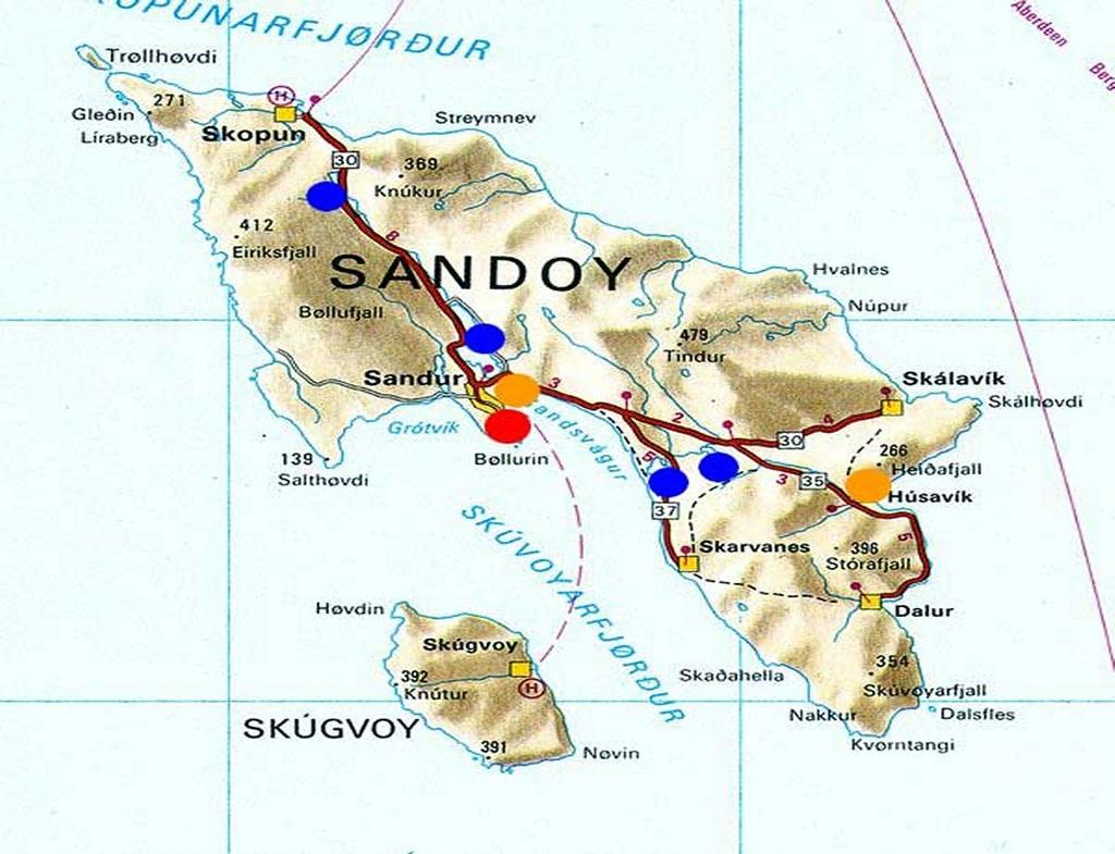 Kort Over Sandoy Og Skuvoy Kort Over Sandoy Og Skuvoy Flickr