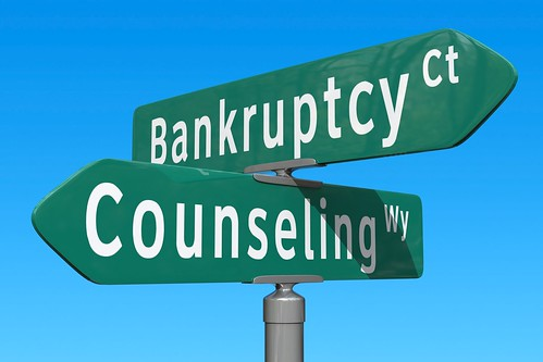 Crossroads: Bankruptcy or Counseling | by ccPixs.com