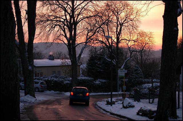 A December sunset / Dezember-Sonnenuntergang (1)