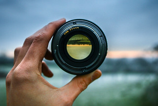 Through the lens. | by Adam Hinett