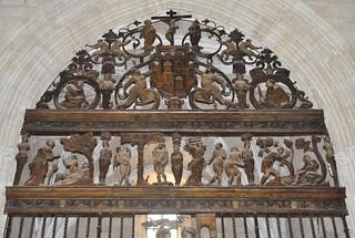 Úbeda (Jaén). Iglesia de San Pablo. Detalle de reja