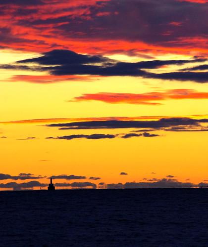 sunset capecod buzzardsbay megansett clevelandledgelight