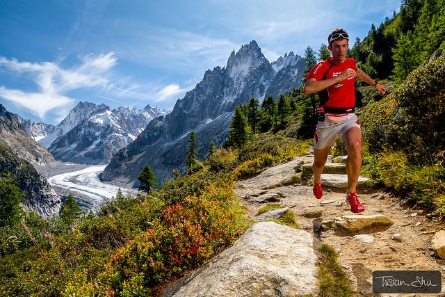 Kilian training above Montenvers