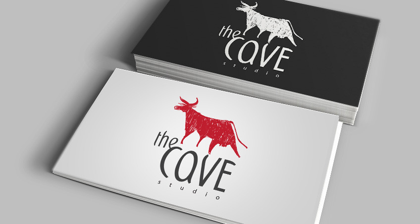 The Cave free vector logo