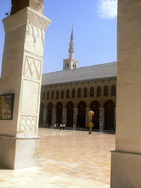 Inside the Umayyad mosque, Damascus