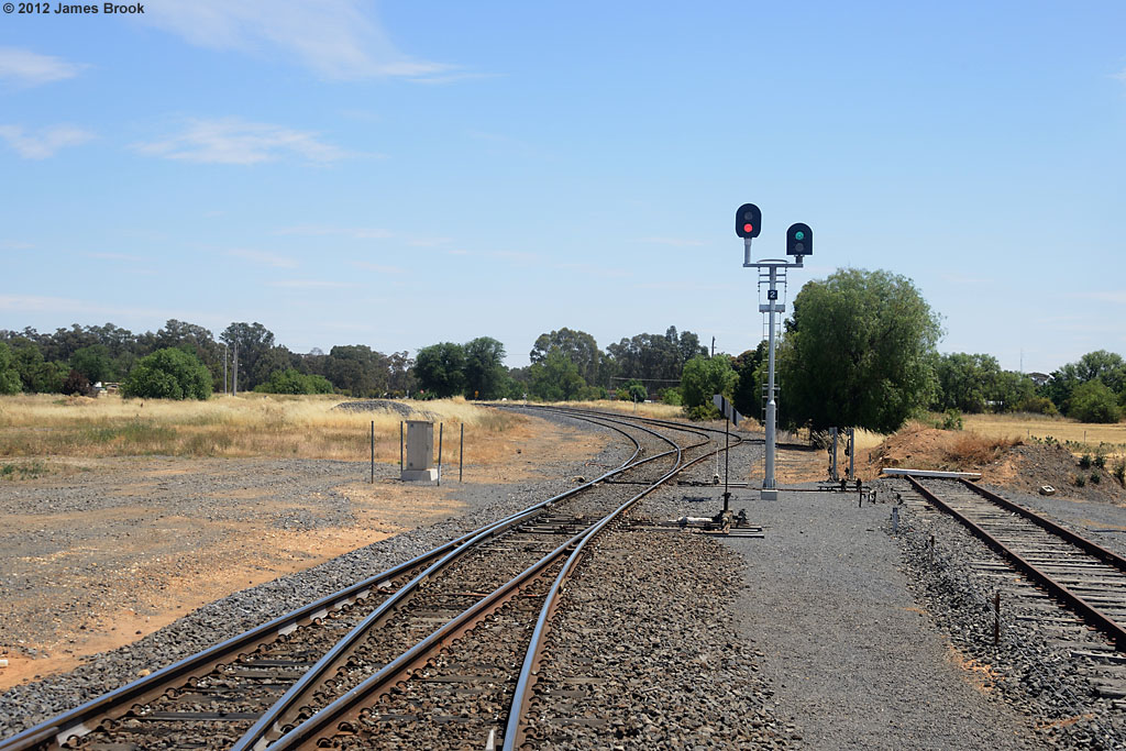 Approaching junction for Mildura and Inglewood by James Brook