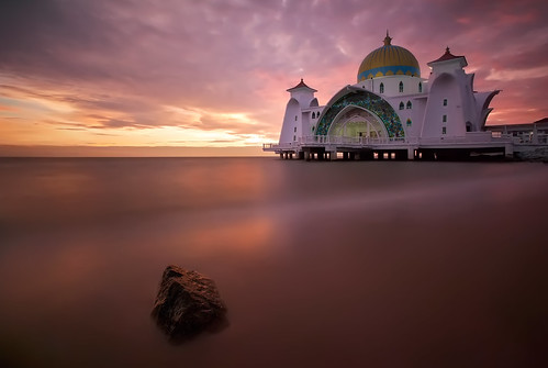 ocean travel sunset sea sky sun seascape slr water rock architecture clouds photoshop canon landscape person eos asia southeastasia purple cloudy dusk muslim islam fineart smooth stormy landmark mosque photograph malaysia blended 5d dslr melaka islamic lavendar mkii blending markii greenwichpark travelphotography mallaca thefella 10nd 5dmarkii conormacneill thefellaphotography mallacastraitsmosque lpflow