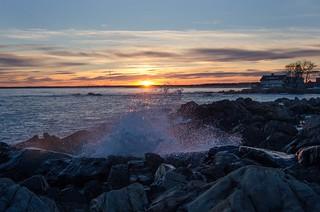 A Splash at Sunset