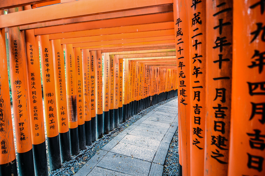 Fushimi Inari curve