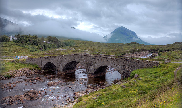 Sligachan Bridge from the River Bank