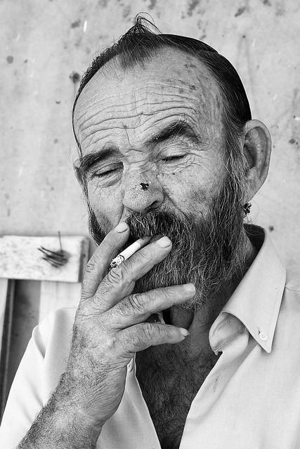 Retrato de un pescador.